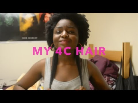 MY REAL 4C HAIR TEXTURE  LENGTH CHECK
