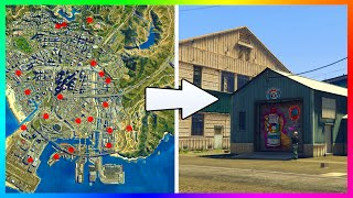 GTA 5 FINDING ALL 20+ WAREHOUSE LOCATIONS & HIGH RISE HQ SPOTS IN GTA ONLINE FINANCE & FELONY DLC!