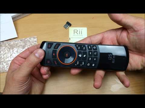Rii Mini i25 Air Mouse Remote controller for Android TV box & PC Unboxing &