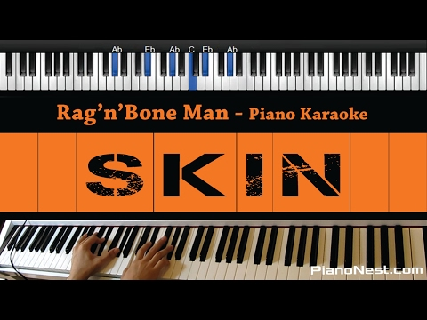 Rag'n'Bone Man - Skin - Piano Karaoke / Sing Along / Cover with Lyrics