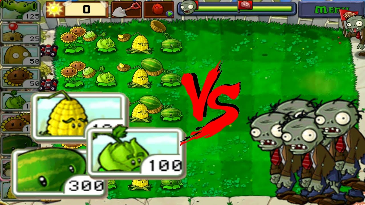 All Plant Catapults Vs Regular Zombies Plants Vs Zombies Free Hd Youtube