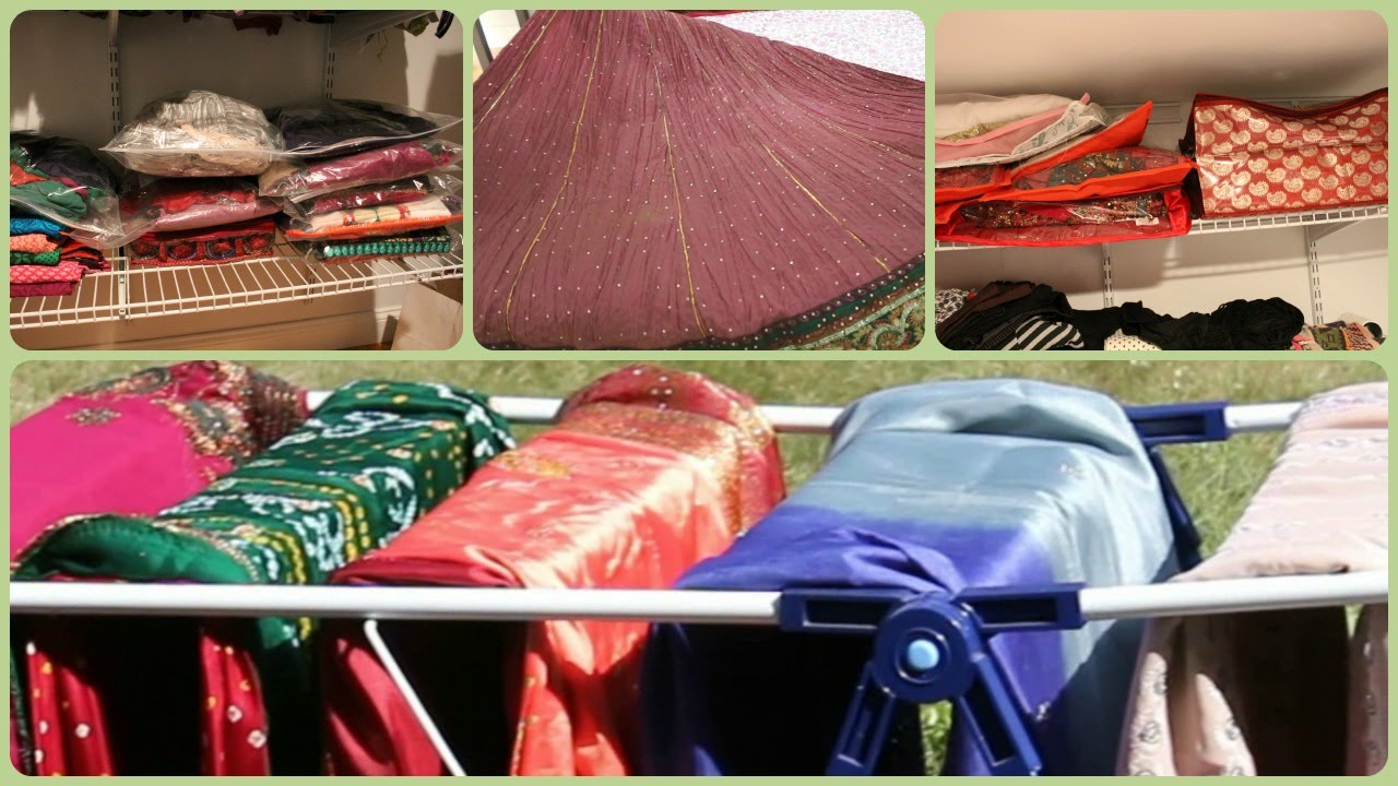 How to organize Saree/Sari and Indian Dresses - YouTube