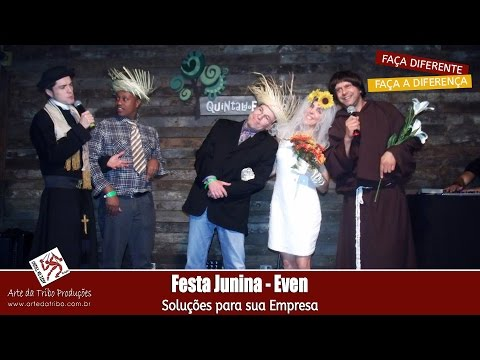 Ações Motivacionais e Endomarketing - Festa Junina - Até SANTO ANTONIO apareceu para se divertir na festa EVEN