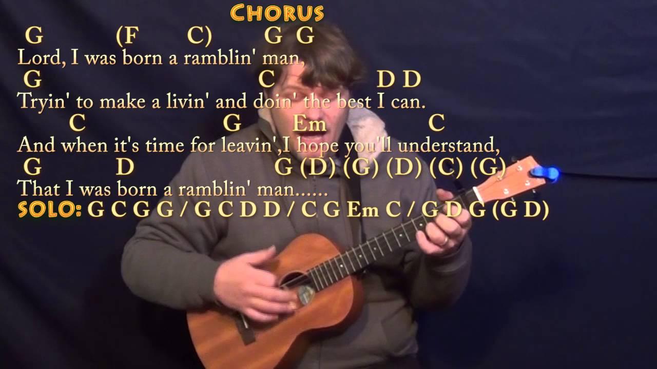Ramblin Man Allman Brothers Band Bariuke Cover Lesson With Chords