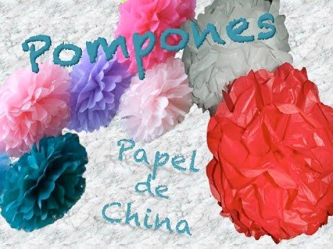 COMO HACER POMPONES DE PAPEL DE CHINA | How To DIY Tissue Paper Pom Poms | AVanguardia