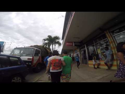 Fiji - Namale - Tour of Savusavu - Walking on Streets