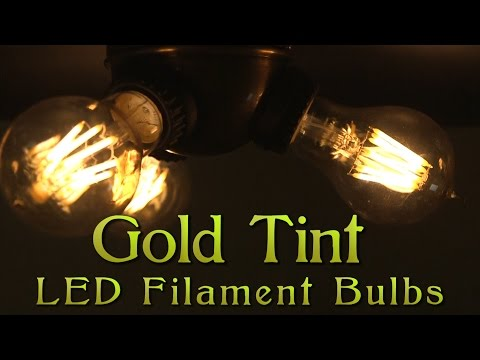 Gold Tinted Filament LED Bulbs