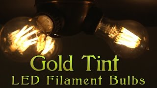 Gold Tinted Filament LED Bulbs(, 2015-04-08T20:03:21.000Z)