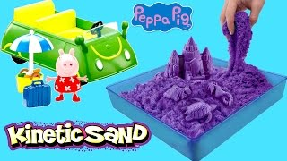 Kinetic Sand Beach Party Peppa Pig Sunshine Holiday Car Picnic Time | Kinetic Sand Box Kit