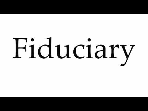 How to Pronounce Fiduciary