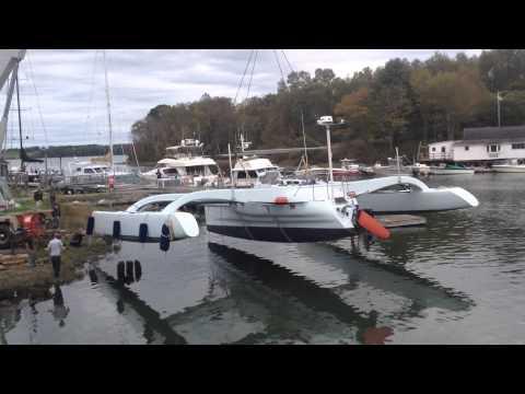 Pipeline3 - custom 46' Trimaran refit by Lyman- Morse Boatbuilding