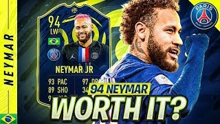 SHOULD YOU DO THE SBC?! 94 PLAYER OF THE MONTH NEYMAR SBC ONLY REVIEW!! FIFA 20 Ultimate Team