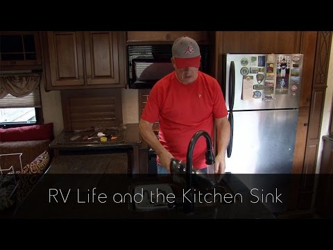 upgrading my rv kitchen drain with a hepvo from youtube