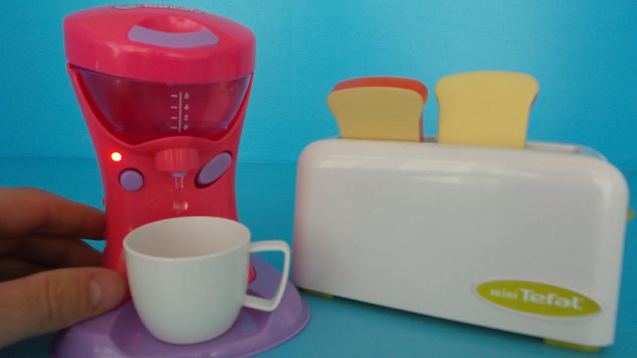 spielzeug toaster und spielzeug kaffeemaschine auspacken - youtube