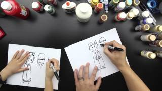 How To Draw The Three Wise Men