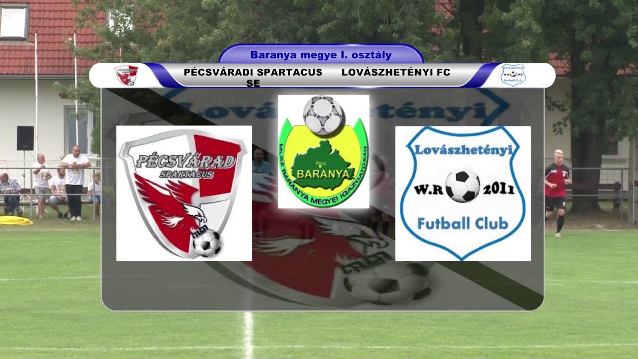 PÉCSVÁRADI SPARTACUS SE  -  LOVÁSZHETÉNYI FC  7 - 0 (1 - 0)