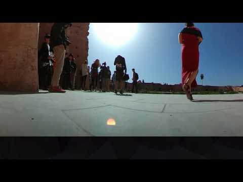 360 Video Al-Badi' Palace North Entrance Marrakech