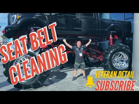 Seat Belt Cleaning (Hack) Use BUG CLEANER !!