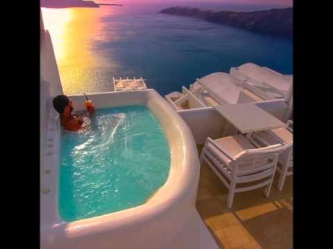 luxurious above blue suites santorini youtube. Black Bedroom Furniture Sets. Home Design Ideas