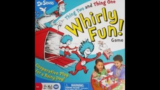 Thing Two and Thing One Whirly Fun Board Game (2016, Wonder Forge) -- What's Inside
