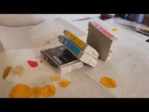 Перезаправляемые картриджи  для принтера Epson SX215