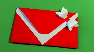 Origami envelope. Easy gift envelope. Ideas for gift wrapping.