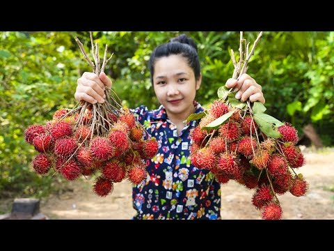 Yummy Rambutan Fruit dessert - Rambutan Fruit cooking - Natural Show Life