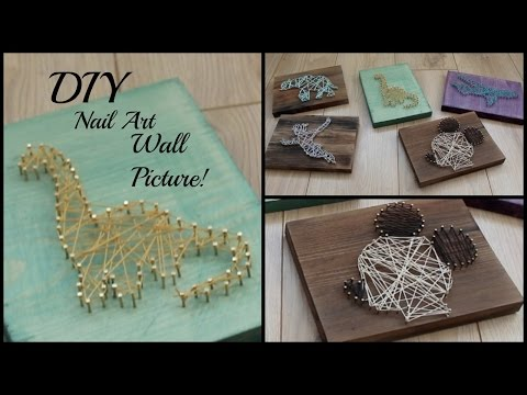 DIY Nail String Art Picture! | Easy Home DIY Art!