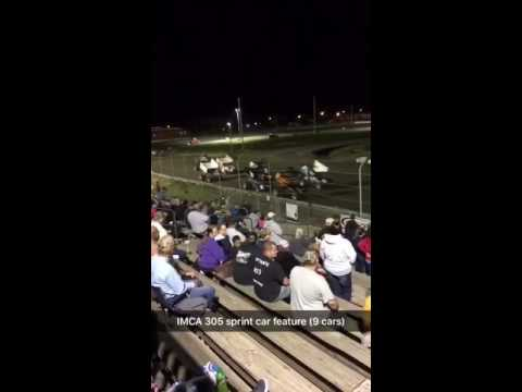 IMCA 305 sprint car feature 9/18/16 (9 cars)