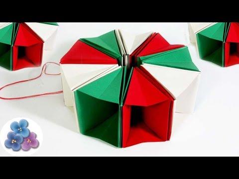 manualidades origami colgantes de papel navidad y fietas