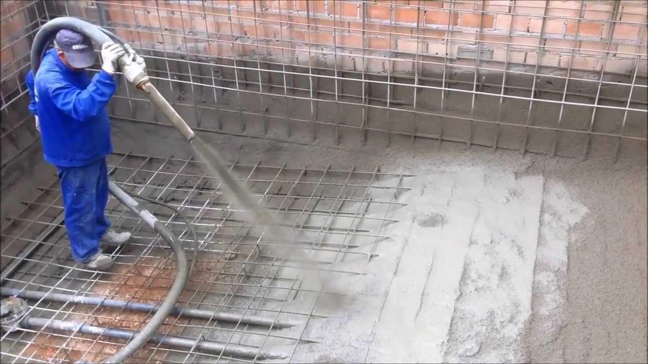 Gunitado piscina v deo 1 youtube for Calculo estructural de una piscina