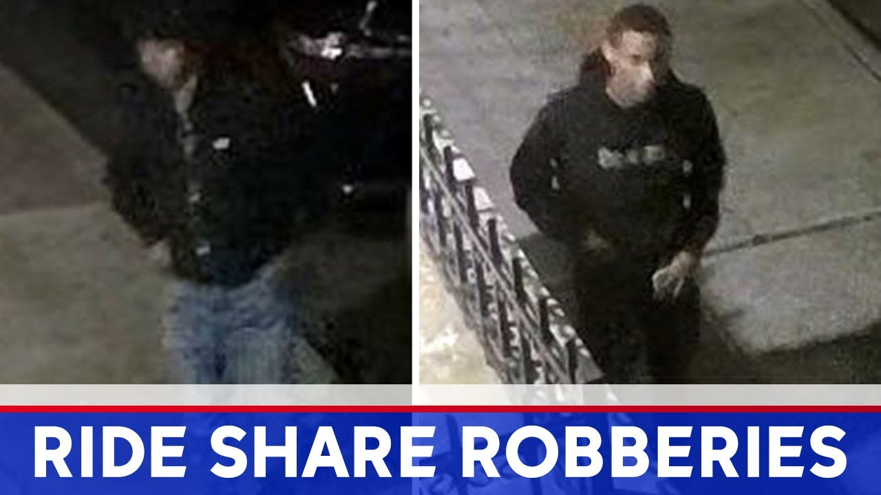 3 suspects sought in 40 ride-share robberies