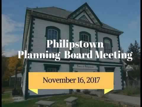 Philipstown Planning Board Meeting November 16, 2017