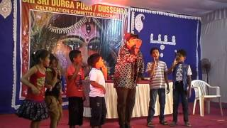 DANCE AT MAGIC SHOW- MERA NAAM HAI LAKHAN ON( 19-10-2015), AT DARJIPURA, DURGA PUJA 2015