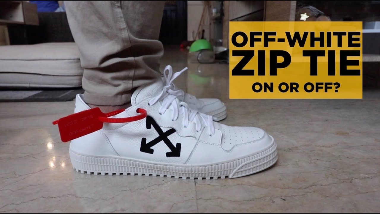 "Nike x Off White Shoe /""Bag/"" The Ten Air Black White Zip Tie Virgil Abloh"