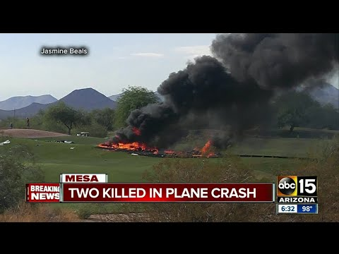 Two killed after plane crashes in Mesa