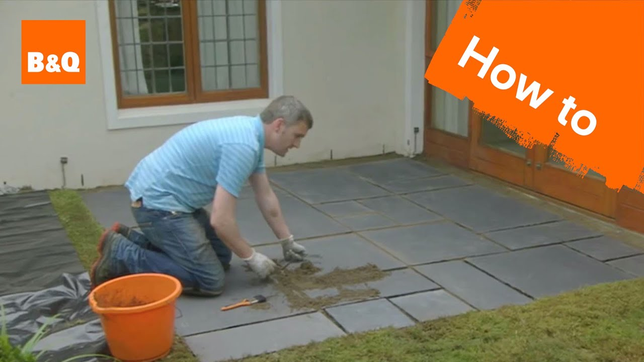 How to lay a patio - YouTube