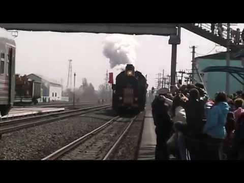 Ретро-поезд в Суровикино ч.1