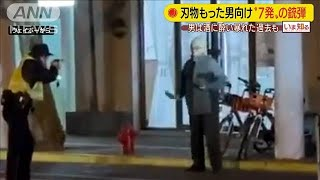 """刃物もった男に向け""""7発"""" 酒に酔い暴れた過去も(19/12/16)"""