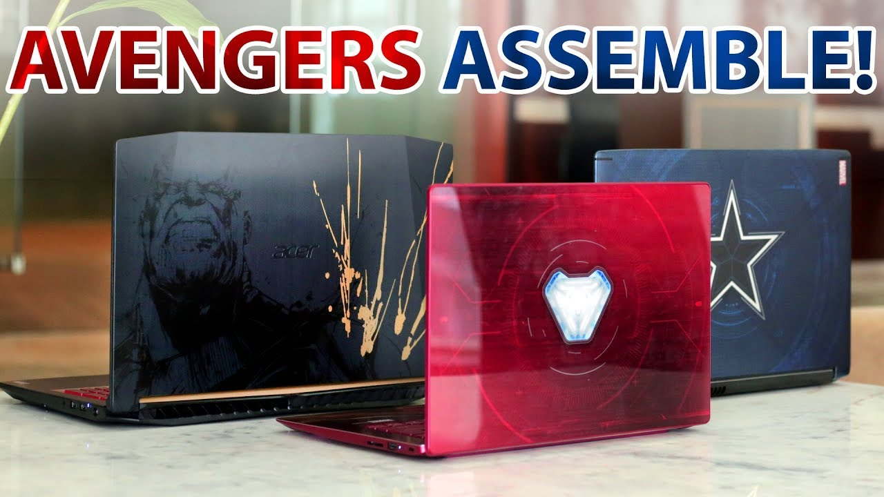 Avengers Edition Laptops by Acer | Swift 3 Iron Man, Aspire 6 Captain America, Nitro 5 Thanos