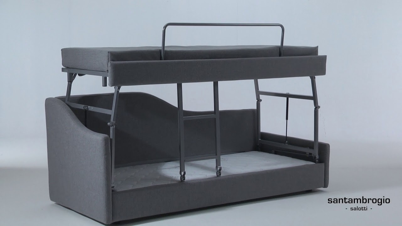 Letti A Castello Milano.Divano Letto Castello Easy Stacking Bunk Bed Sofa Bed Youtube