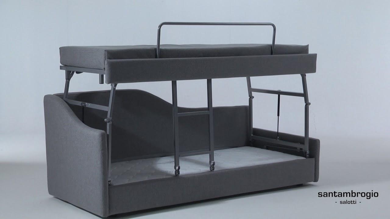 Letto A Castello A Milano.Divano Letto Castello Easy Stacking Bunk Bed Sofa Bed Youtube