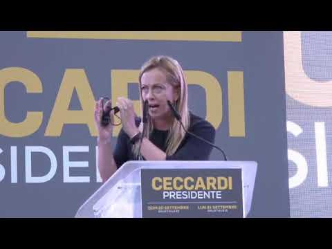 Giorgia Meloni: Centrodestra unito anche in Toscana. Il 20 e 21 settembre scegli Fratelli d'Italia