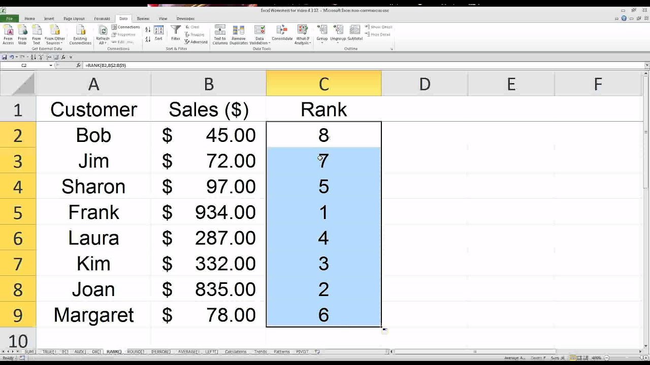 10 Useful Excel Functions