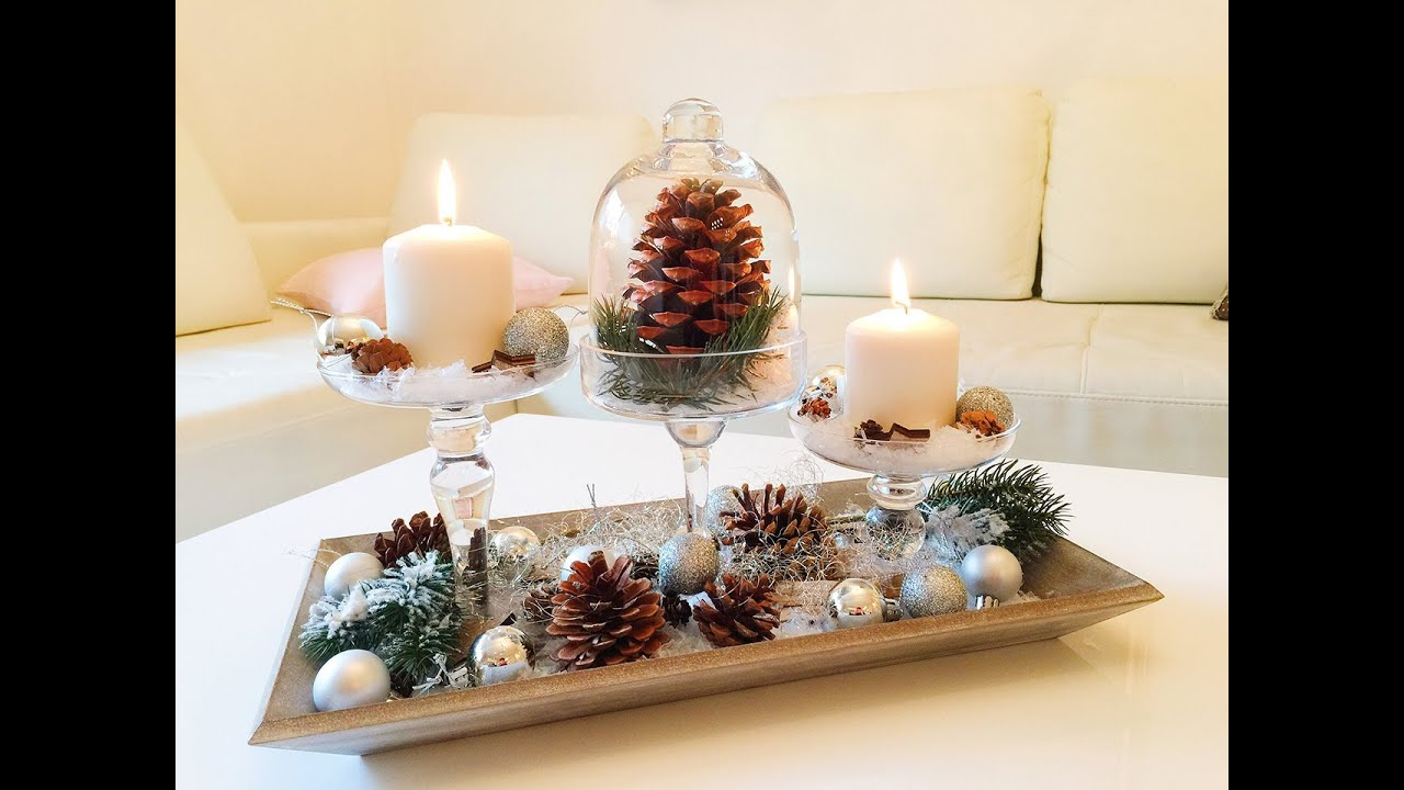 Diy winterdeko f r das wohnzimmer winter dekoration youtube - Winterliche dekoration ...