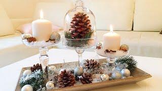 DIY Winterdeko für das Wohnzimmer / Winter Dekoration