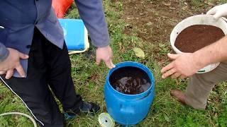 Ceviz bahçesinde  katı ve sıvı leonardit uygulaması
