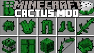 Minecraft INSANE CACTUS MOD / DON'T GET SPIKED BY THE CACTUS !! Minecraft Mods
