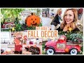 MY MOM'S FALL DECOR 🎃🍁 INDOOR + OUTDOOR HOUSE TOUR 2018 | COUNTRY FARMHOUSE DECORATIONS! 🍂🏡