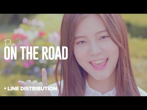 DIA - On the Road : Line Distribution (Color Coded)